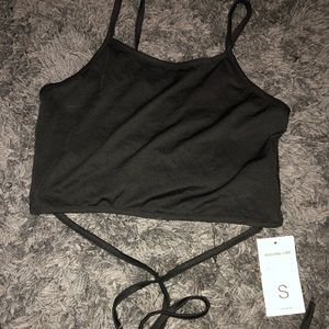 NWT crop top with straps